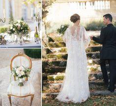 Carla wedding dress captured by Nicholas Purcell-Photography at Chateau La Durantie, France  #yolancris #weddingdress #weddinginspiration #weddingvenue #bridestyle #France #weddingideas #laceweddingdress #brides #Dordogne