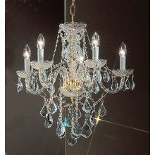 """View the Classic Lighting 8245-GP 21"""" Crystal All Glass Chandelier from the Monticello Collection at LightingDirect.com."""