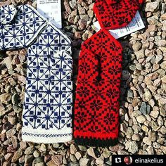 Happy customer from Sweden     Repost @elinakelius (@get_repost)  ・・・  Just realized I forgot to post about my textile haul from Latvia! I bought these two pairs (yes, only two!) of woolen mittens from @tinesshop in Riga and I also could not resist bringing home some of their yarn . Looking forward to test it! #knitting #latvianmittens