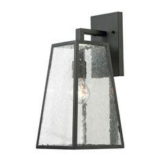Titan Lighting Gloucester Collection 1-Light Textured Matte Black Outdoor Sconce-TN-36017 - The Home Depot