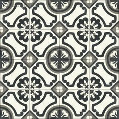 Love this black white and gray cement tile!