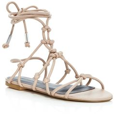 Rebecca Minkoff Elyssa Lace Up Gladiator Sandals (915 GTQ) ❤ liked on Polyvore featuring shoes, sandals, nude, nude shoes, laced shoes, greek sandals, laced up gladiator sandals and gladiator sandals shoes