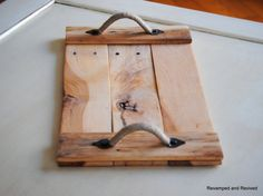 Wooden Tray - Rustic Wood Centerpiece - Serving Tray - Handcrafted from Reclaimed Wood - Pallet Tray - Beach Coastal Decor - Made to Order