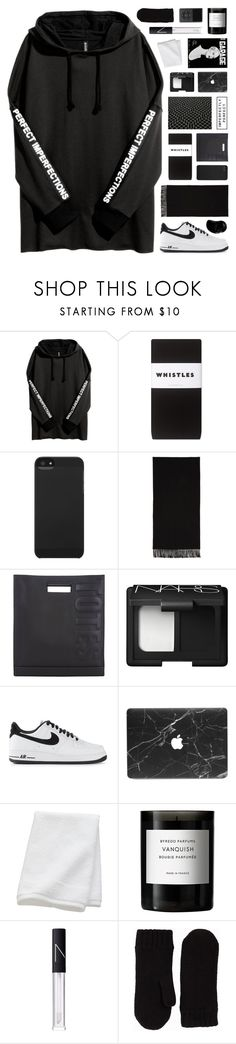 """perfect or imperfect..."" by cinnamon-and-cocoa ❤ liked on Polyvore featuring Whistles, Incase, Acne Studios, 3.1 Phillip Lim, NARS Cosmetics, NIKE, CB2, Byredo, GANT and Tangle Teezer"