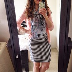 Dear Stitch Fix stylist,  Pencil skirts don't have any place in my wardrobe for teaching kindergarten, but I love wearing this skirt from you when I run errands. It looks great paired with a fitted cardigan and coordinating scarf. Please send more tailored, classic pieces my way.  Xoxo, Maria
