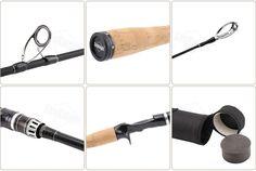 Carbon Fiber Spinning/Casting Lure Fishing Rod & Travel Fishing Rod
