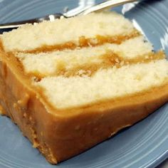 Caramel Cake Recipe - this looks like the cake Sara at church makes. Man, it is yummy!