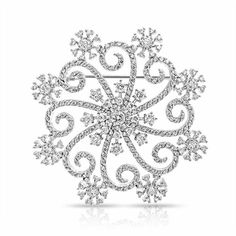 Bling Jewelry Christmas Gifts Large Swirl Cz Snowflake Winter Brooch... ($26) ❤ liked on Polyvore featuring jewelry, brooches, clear, pin jewelry, birthday jewelry, christmas brooches, pendant jewelry and sparkle jewelry