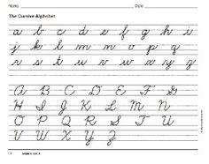 Homeschool Parent: Free Cursive Handwriting Book