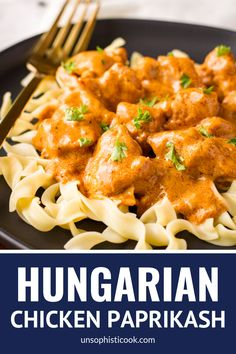 Chicken Paprikash With Dumplings, Hungarian Chicken Paprikash, Hungarian Paprika Chicken, Egg Noodle Dishes, Egg Noodle Recipes, Recipes Using Egg Noodles, Chicken And Egg Noodles, Eastern European Recipes, Hungarian Recipes