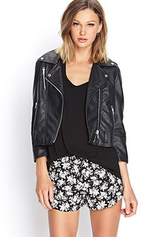 Rose Print Dolphin Shorts | FOREVER21 - 2000104272