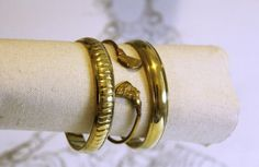 Bohemian Gold Color Indian Bracelet / Bangle Set. Handmade from India.