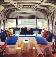 Levi's airstream for Station to Station custom natural indigo dye work by Lookout & Wonderland