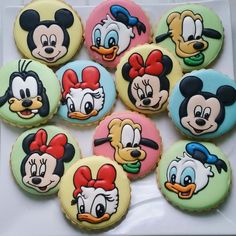 Baby mickey mouse and friends sugar cookies (minnie mouse, donald duck, daisy, goofy and pluto)