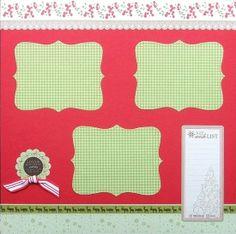 cute Christmas scrapbook page idea