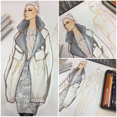 WIP | Fall 2015 RTW, design & illustration by Paul Keng.: