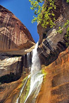 Lower Calf Creek Falls, Escalante National Monument, Utah    Read more: http://attractions.uptake.com/blog/top-ten-waterfalls-united-states-2546.html#ixzz2N8VJa4AU