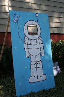 Para hacer fotos de astronautas. Fiestas infantiles.