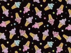 Sparkle Cones Ice Cream Cotton Black