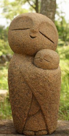 Handmade Buddha Jizo Statue Buddism Mizuko From Japan Buddha Sculpture, Pottery Sculpture, Sculpture Art, Stone Sculptures, Japanese Ornaments, Buddha Garden, Statues, Outdoor Sculpture, Hand Reference