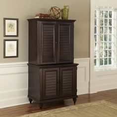 Bermuda Compact Computer Cabinet And Hutch | Overstock.com Shopping   Great  Deals On Desks