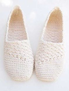 Stitch a basic slipper for comfort and beauty!   These pretty slippers are made using a worsted-weight cotton yarn. Instructions are written for size S:  2-4 (M: 5-6, L: 7-8, XL: 9-10) and include detailed, step-by-step instructions with pictures and symbol crochet. You can wear them as slippers or add a sole for street shoes. Cord or crochet sole tutorial patterns are sold separately on AnniesCraftStore.com. Cord pattern #: RAC1451; Crochet pattern #: RAC1452.