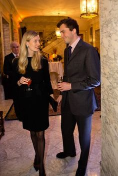 Prince Amedeo and Elisabetta Maria of Belgium attend a reception in honor of the Roll Back Malaria program in Brussel on 14 Dec. 2015
