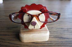 Mignonne petit Lion en bois porte verres d'oeil par gremlina