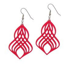 Gorgeous Red Spiral Earrings  Spiral Jewelry  Swirl by Baronyka, $24.00