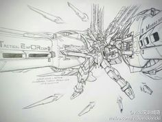GUNDAM GUY: Awesome Gundam Sketches by VickiDrawing [Updated 10/21/15] Freedom enforcer