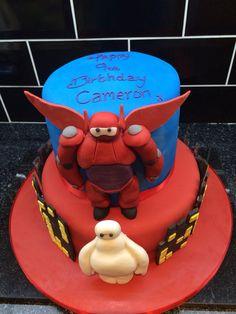 Big hero 6 themed birthday cake Themed Birthday Cakes, 6th Birthday Parties, Boy Birthday, Birthday Ideas, Cakes For Boys, Boy Cakes, Big Hero 6 Party Ideas, Birtday Cake, 6 Cake