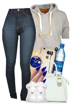 """""""Arrivedeci"""" by jeaslove ❤ liked on Polyvore featuring Soul Cal, Michael Kors, BaubleBar, Rolex and NIKE"""
