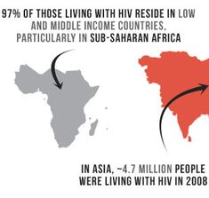 97% of those living with HIV reside in low and middle income countries, particularly in sub-saharan Africa. In Asia ~4.7 million people were...