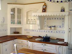 white-blue kitchen
