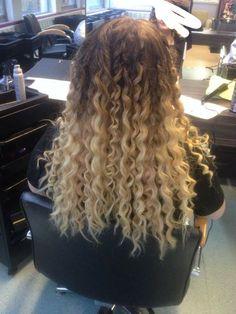 Curly ombré