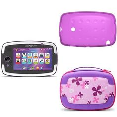 LeapFrog LeapPad Platinum Bundle with Carrying Case and Gel Skin FROM PAPA/SHE SHE- BOUGHT