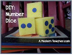 DIY Number Dice  http://www.classroomdiy.com/2012/05/diy-number-dice.html#
