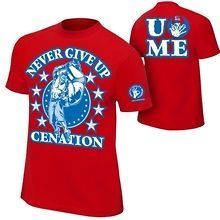 John Cena Red Persevere Never Give Up Mens T-shirt John Cena Costume, Wwe Shirts, Now And Forever, Never Give Up, Wrestling, Cap, Tees, T Shirt, Clothes