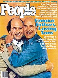 Famous Fathers & Sons Carl Reiner, Story People, Joan Baez, Roy Orbison, Old Magazines, People Magazine, Father And Son, Horror Stories, Sons