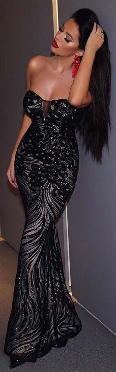Glamorous Black Sleeveless Prom Dress