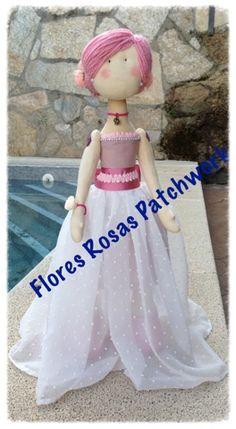 Flores Rosas Patchwork: Mi muñeca de comunion ...