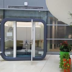 One of the smaller versions of the Office pod is the office pod This model is ideal for one to one meetings or private or teleconferencing calls. Distribution Board, Office Pods, Space Available, Commercial Furniture, Modular Design, Carpet Colors, Atrium, The Office, Flexibility