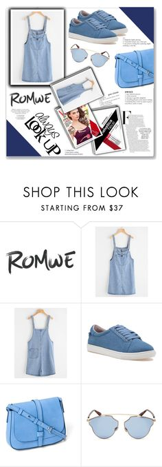 """""""Romwe"""" by gheto-life ❤ liked on Polyvore featuring J/Slides, Gap and Christian Dior"""