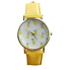 Cute Pineapple Fruit Watches Women Ladies Quartz Watch Fashion Casual PU Leather Analog Wristwatch montre femme