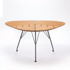 Leaf Dining table from Homage - please see quote Outdoor Tables And Chairs, Indoor Outdoor Furniture, Dining Table Chairs, Outdoor Dining, Outdoor Decor, Bamboo Table, Leaf Table, European Furniture, Danish Furniture