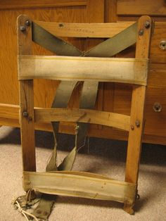 Vintage Wooden Backpack Frame by KansasWheatField on Etsy