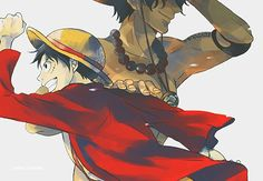 Luffy and Ace from One Piece. by ~notmi on deviantART