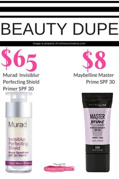 A drugstore makeup dupe that is also antiaging. SPF 30 in a primer to protect your skin! Smooth wrinkles, hide pores, AND protect yourself from sun damage. Drugstore Primer, Drugstore Makeup, Eye Makeup, Beauty Over 40, Best Face Products, Beauty Products, Facial Cleanser, Acne Moisturizer, Anti Aging Skin Care