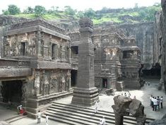 99 WOW: Is it Iram of the Pillars?هل هي إرم ذات العماد؟ Ajanta Ellora, Ajanta Caves, Caves In India, Monument In India, Jain Temple, Indian Architecture, Ancient Architecture, Historical Monuments, Incredible India