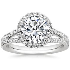 18K White Gold Fortuna Moissanite Engagement Ring